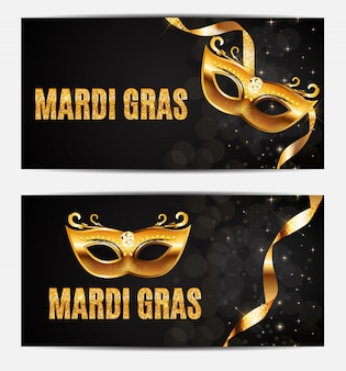Mardi gras party mask holiday poster.