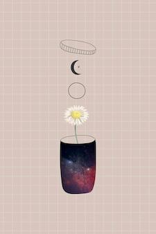Margarita en un recipiente sobre un fondo beige