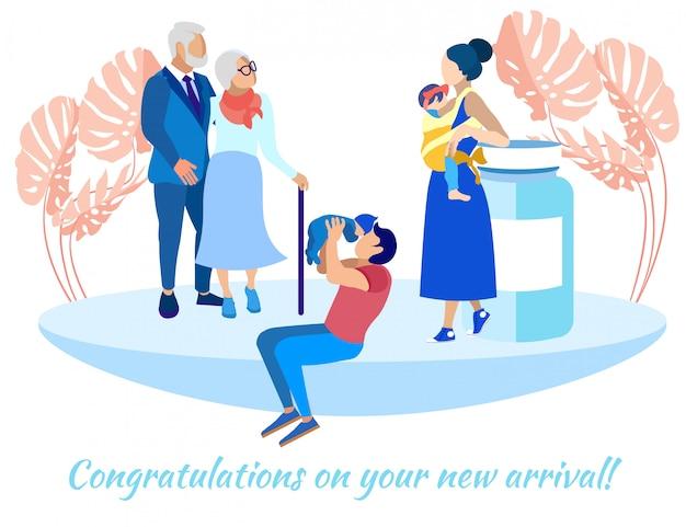 Marido y mujer con hijos y padres ancianos