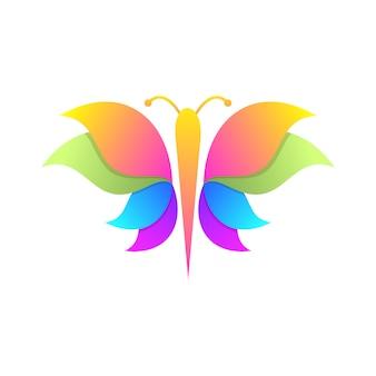 Mariposa colorida del soporte