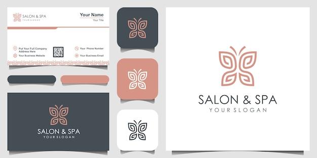 Mariposa minimalista con logotipo de forma de monograma de letra ss línea arte. belleza, estilo spa de lujo. diseño de logotipo, icono y tarjeta de visita.
