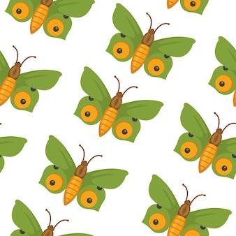 Mariposa de patrones sin fisuras. fondo de mariposas de verano.