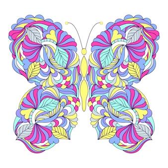 Mariposa sobre fondo blanco