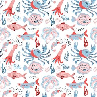 Marisco de patrones sin fisuras en estilo escandinavo