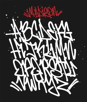 Marker graffiti font ilustración de tipografía manuscrita