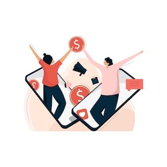 Marketing de afiliación, recompensa por recomendación y marketing