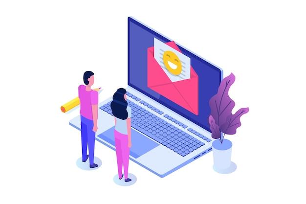 Marketing por correo electrónico, concepto de suscripción