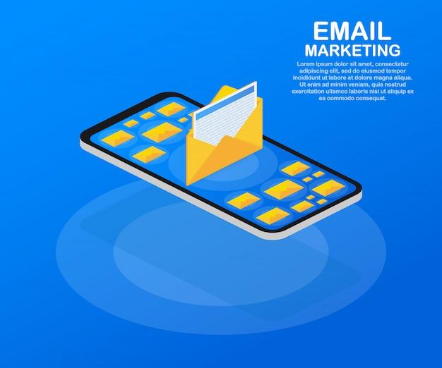 Marketing por correo electrónico, marketing por boletín, plantilla de suscripción por correo electrónico