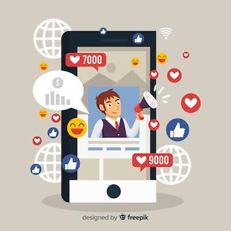 Marketing de influencer en redes sociales