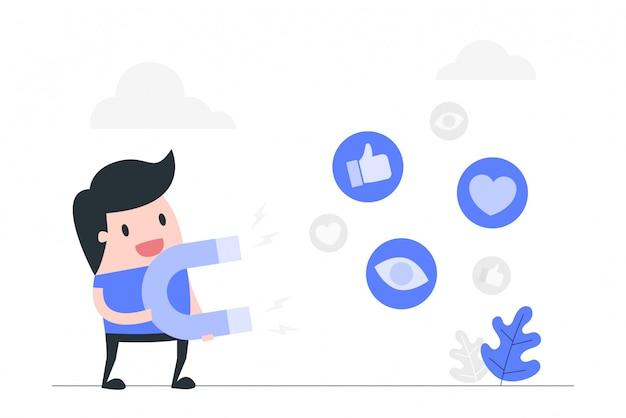 Marketing de medios sociales.
