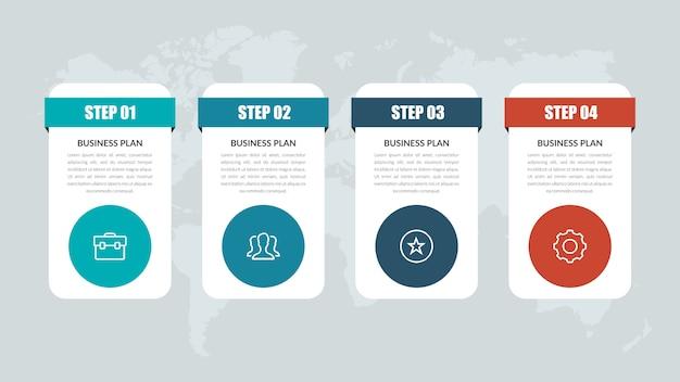 Marketing de negocios de plantilla de infografía con iconos