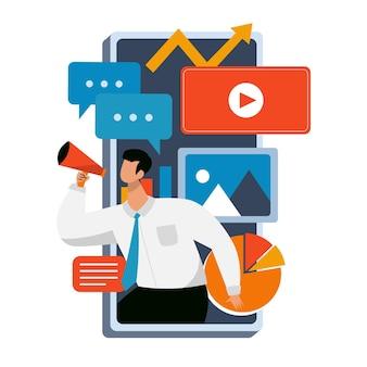 Marketing de redes sociales móviles
