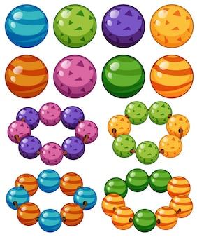 Mármoles en diferentes colores