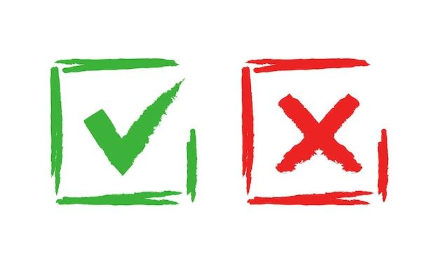 Marque y cruce las marcas de verificación