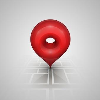 Marque en el puntero del mapa. ilustración vectorial