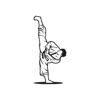 Martial art vector logo