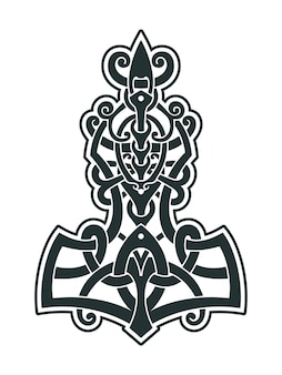 El martillo de thor de mjollnir es un amuleto de vikingos