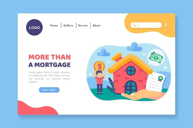 Más que una página de inicio de hipotecas