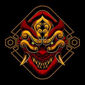 Máscara aangry ronin samurai