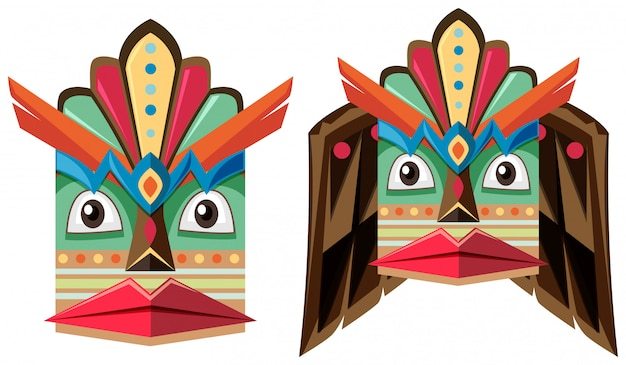 Máscara artesanal de madera