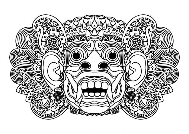 Máscara balinesa barong