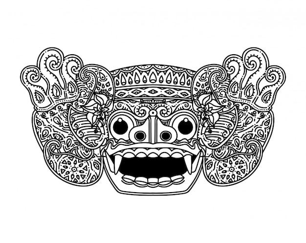 Máscara de barong balinesa