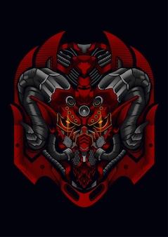 Máscara de cabra diablo