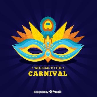 Máscara del carnaval de brasil