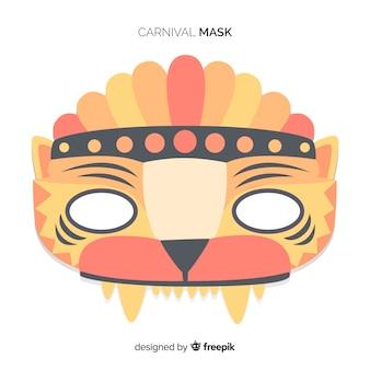 Máscara de carnaval de brasil