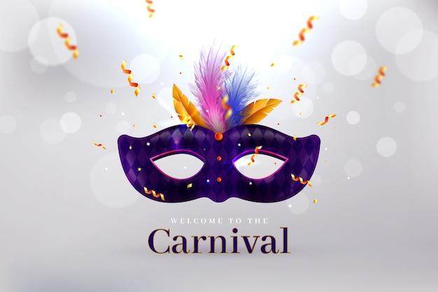 Máscara de carnaval brasileña realista