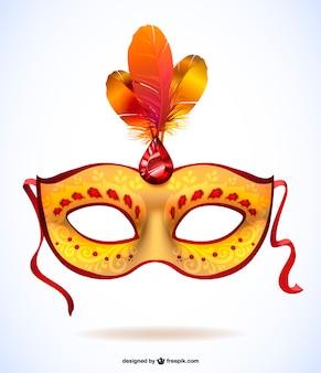 Máscara de carnaval dorada