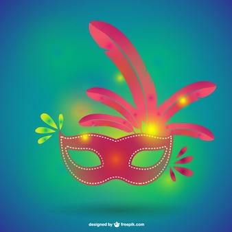 Máscara carnaval formato vectorial