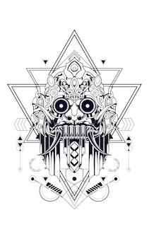 Máscara de la cultura geometría sagrada