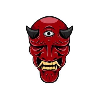Máscara de diablo japonés oni