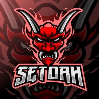 Máscara del diablo mascota esport logo