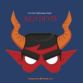 Máscara de diablo rojo