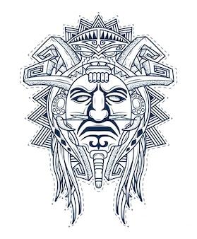 Máscara de los dioses de las personas aztecas