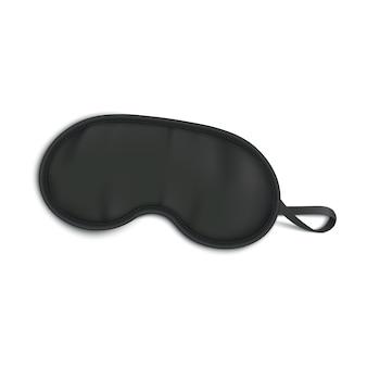 Máscara de dormir negra aislada