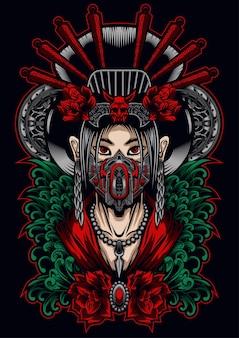 Máscara de geisha