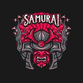 Máscara de guerrero samurai