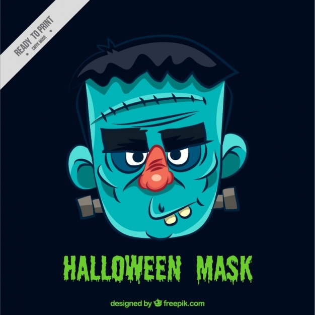 Máscara de halloween de frankenstein