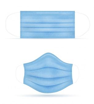 Máscara médica para protección contra enfermedades e infecciones transmitidas por gotitas en el aire.