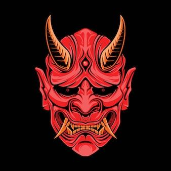 Máscara de oni de japón