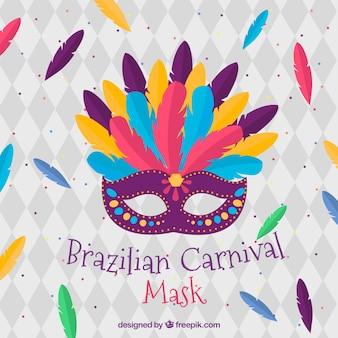 Máscara plana de carnaval brasileño