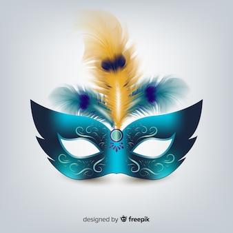 Máscara realista carnaval brasileño