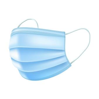 Máscara respiratoria de seguridad, máscara respiratoria hospitalaria para respiración médica.