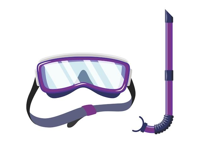 Máscara de snorkel para buceo y diseño de natación.