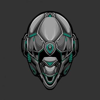 Máscara de soldado 6 ilustración vectorial