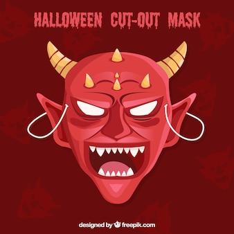 Máscara terrorífica de demonio