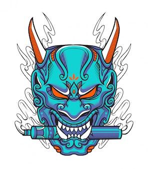 Máscara de vapor samurai